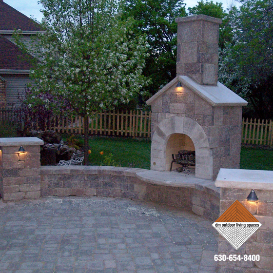 Stone Fireplaces Circular Fit Pits Outdoor Fireplaces D M Outdoor Living Spaces