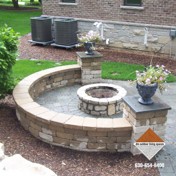 Stone Fireplaces Circular Fit Pits Outdoor