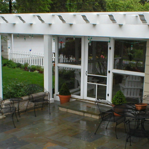 Arbor 4 Rafters, Bluestone Patio