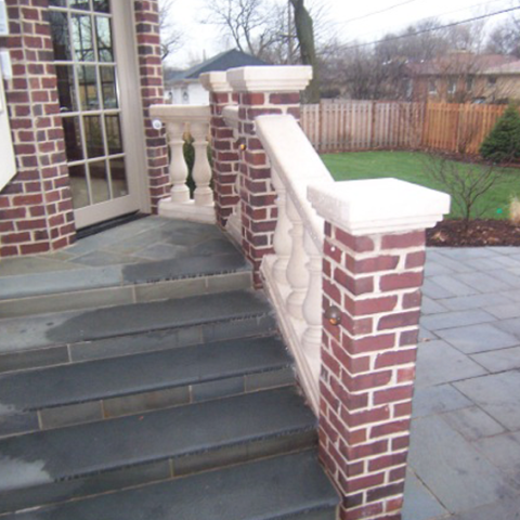 Blue Stone Steps and Railing