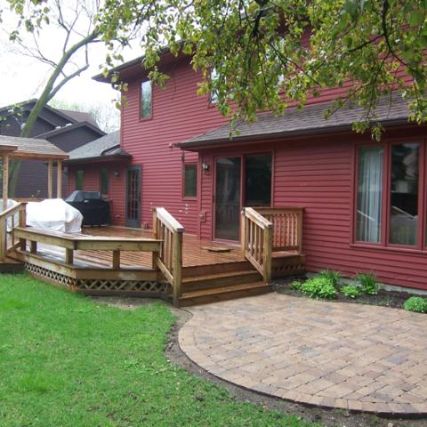 Premium Treated Cedar Deck and Arbor