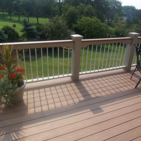 Trex Saddle Stained Railing