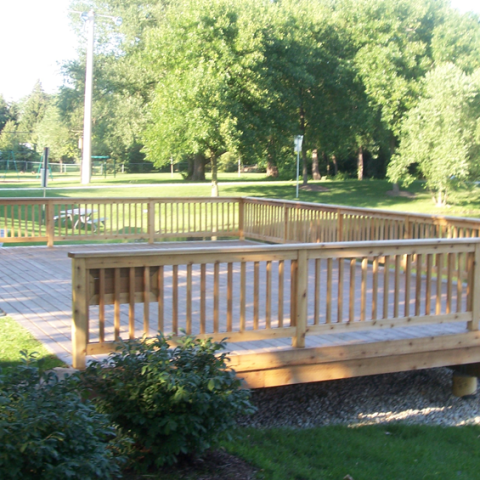 Willow Pond Treated Deck
