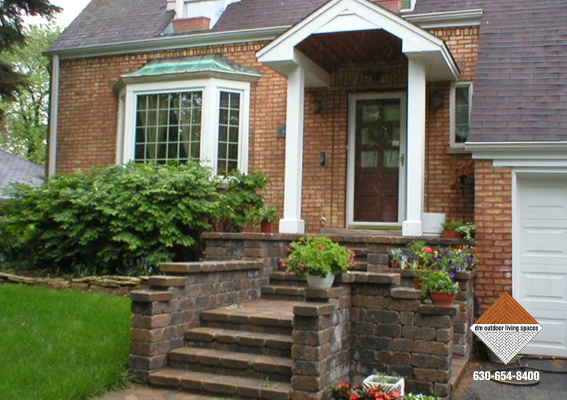 Stone Front Entry Porch D M Outdoor Living Spaces D M