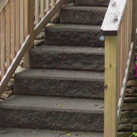 Siena Stone Steps with Treated Railing