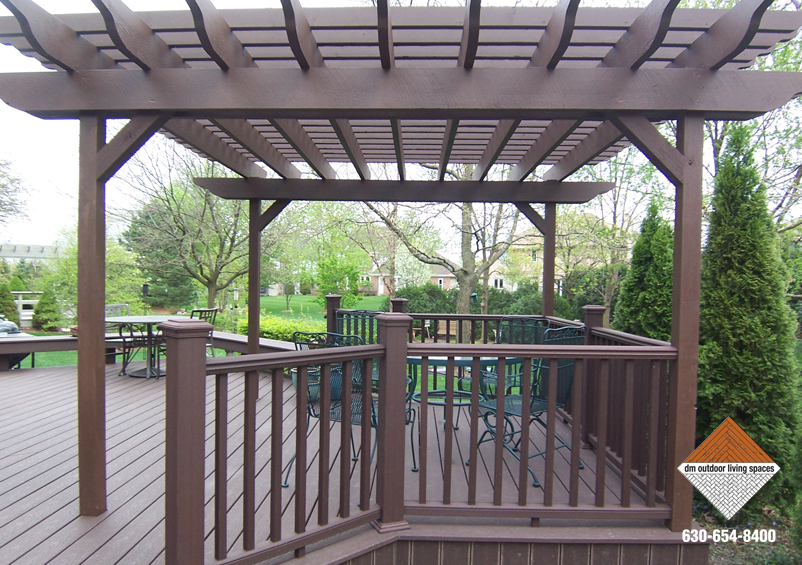 Trex Woodland Brown Wood Stained Arbor
