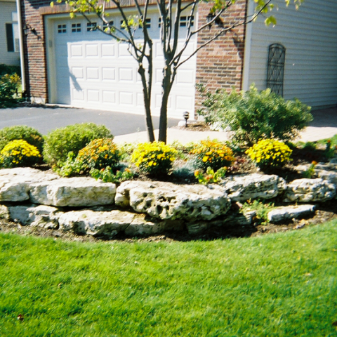 Front Yard Landscaping with Stone