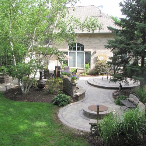 2-circle stone patios