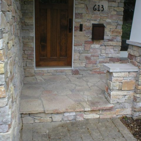 Flagstone Porch Entry