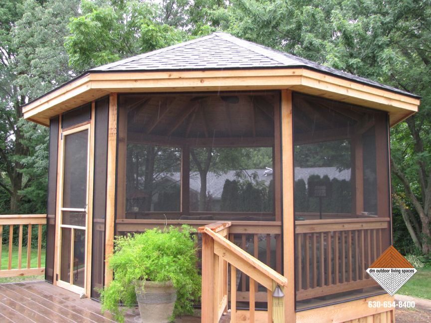 Custom designed gazebos outdoor patios d m outdoor for Built in gazebo
