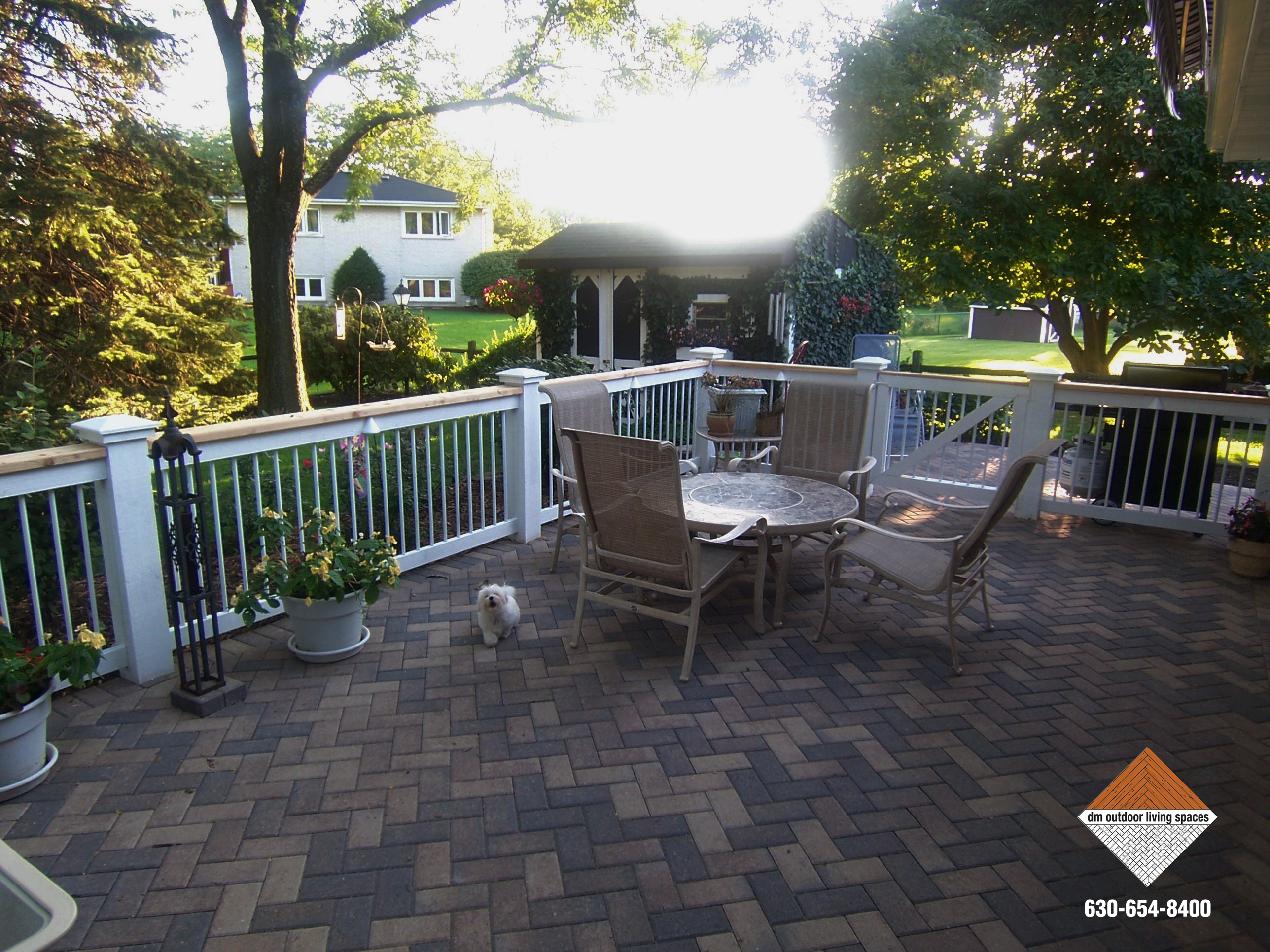 patio home the deck great outdoor umbrella ideas or design on living dinner magazine dinnergarden sunset for