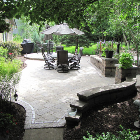 Beautiful stone patio get-away