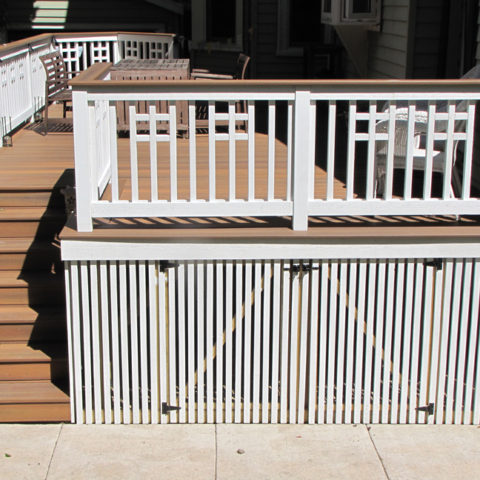 Deck with under storage