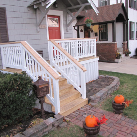 Front deck entry way