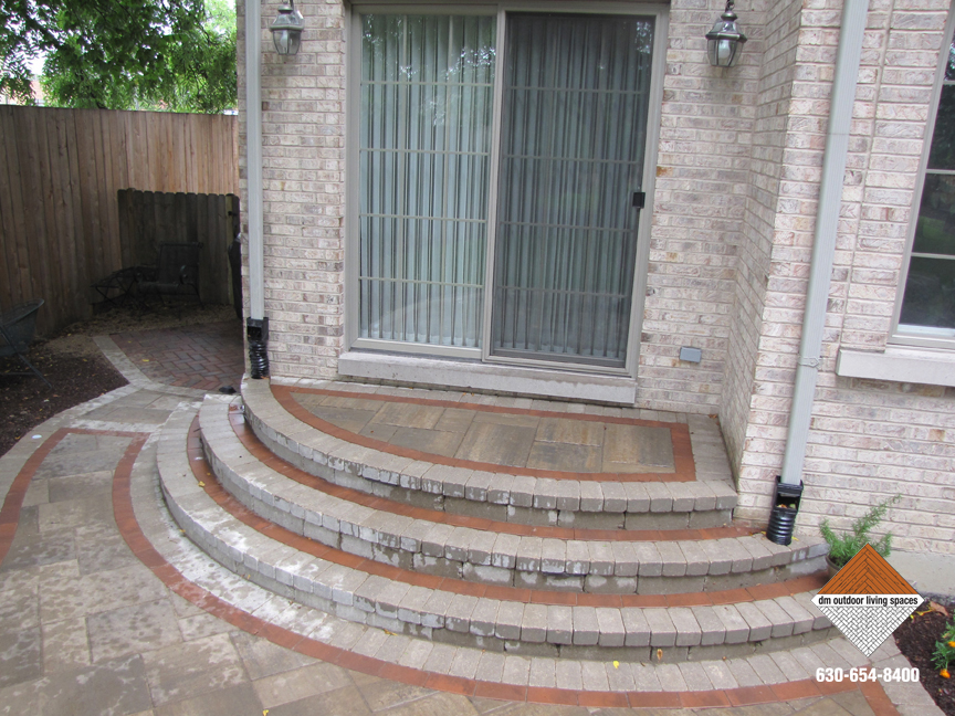 ... Front Entry Patio Stone Steps ...