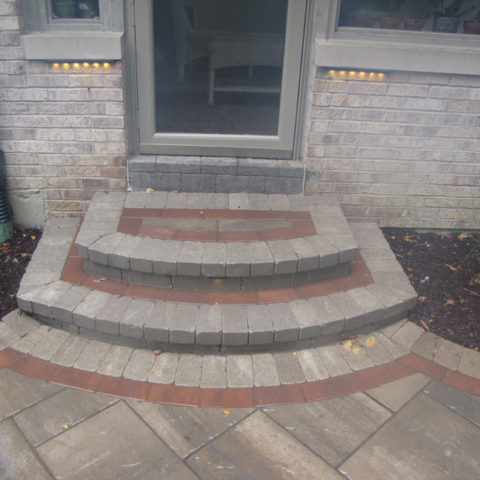 Stone steps front entry