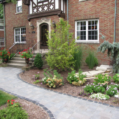 Landscaping and front entry