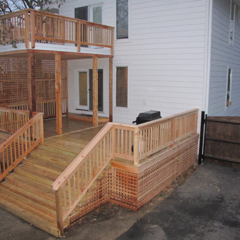 Multi-level city living deck