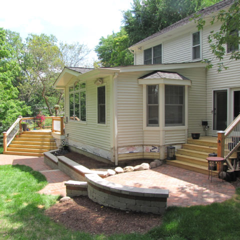 New build deck and patio