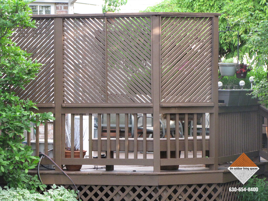 Decks and railings outdoor patio d m outdoor living spaces for Patio deck privacy screen