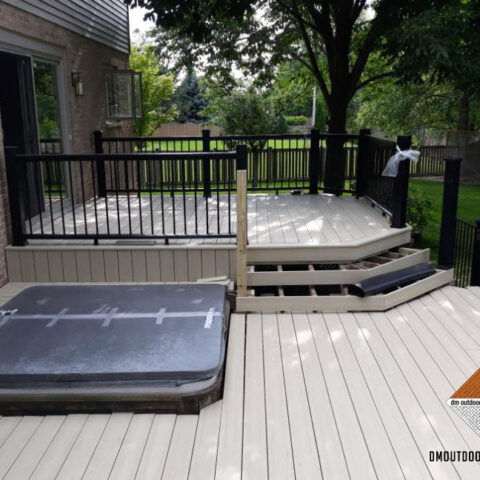 Composite Decking, Steps and Hot Tub Enclosure