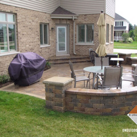 Toned Natural Stone Patio