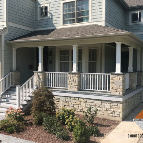 Front Porch and Stone Steps #Riverside