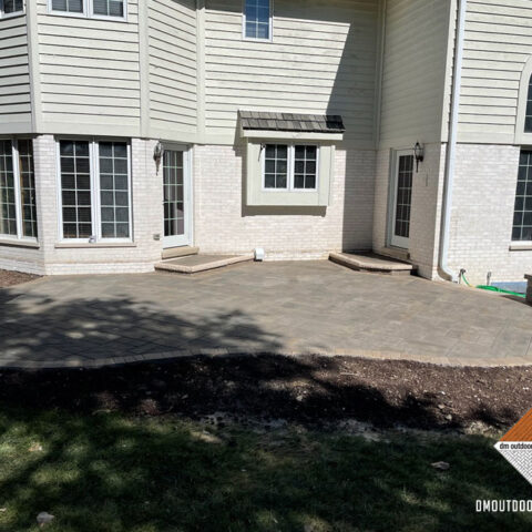 Beacon Hill Paver Patio with Ledgestone Stoop Coping